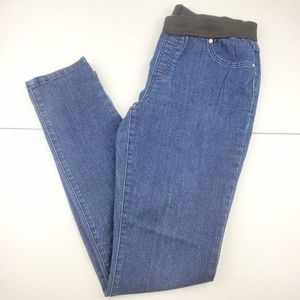 I.N.C. Pull On Blue Denim Stretchy Skinny Jeans